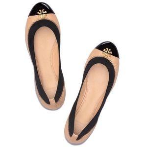 Tory Burch Jolie leather cap toe ballet flats